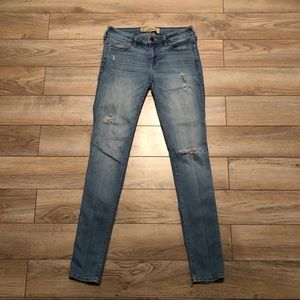 Hollister Super Skinny Distressed Ripped Jeans